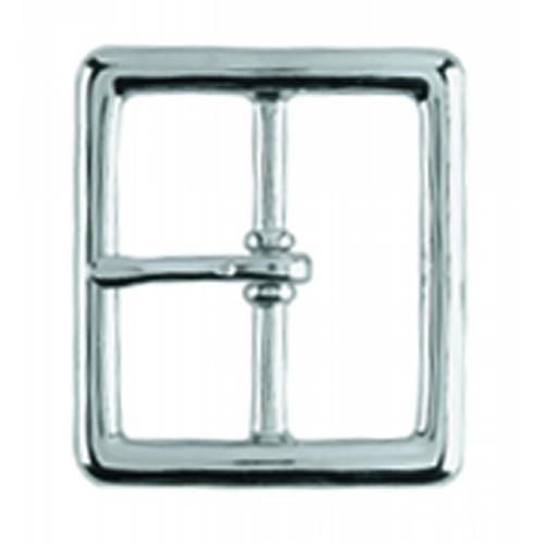 Gould & Goodrich Belt Buckle 125-G Nickel Chrome 1.75in.