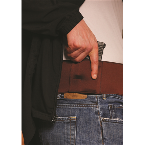 Gould & Goodrich Body Guard Belly Band Holster T727-2MD Tan Large Autos Medium