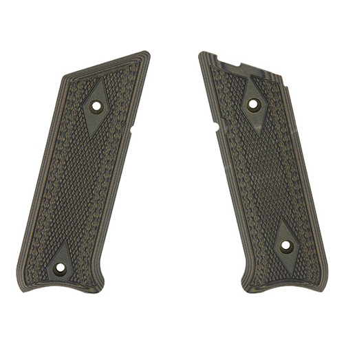 Pachmayr G-10 Tactical Pistol Grips Fits Ruger Mark II/III Fine Green/Black 61060