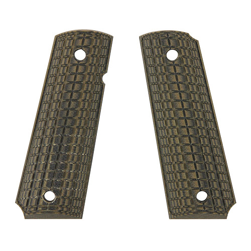 Pachmayr G-10 Tactical Pistol Grips Fits 1911 Coarse Green/Black 61010