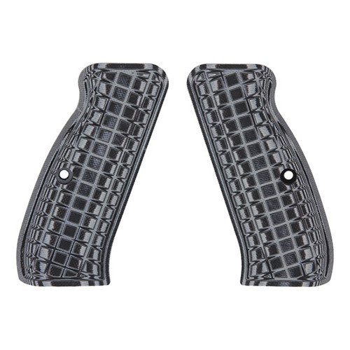 Pachmayr G-10 Tactical Pistol Grips Fits CZ 75 Coarse Gray/Black 61111