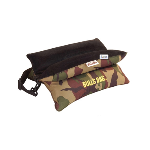 Bulls Bag/Uncle Buds Bench Rest w/ Carry/Shoulder Strap 15in Polyester/Suede Camo 1505