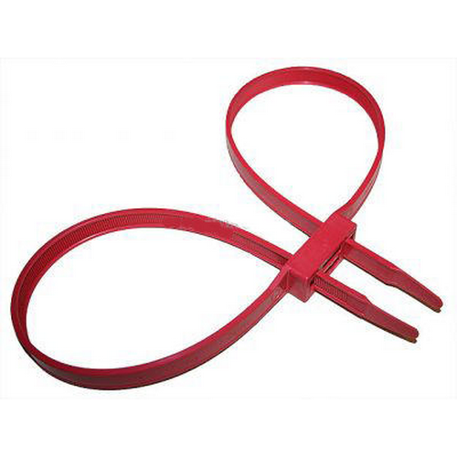 Monadnock Products Double Cuff Disposable Restraints 8220-3 Red 10 Pack