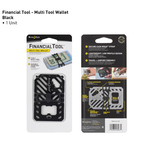 Nite-Ize Financial Tool Multi Tool Wallet FMT2-01-R7