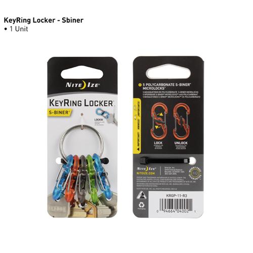 Nite-Ize Keyring Locker KRGP-11-R3