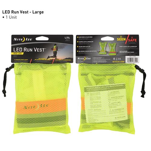 Nite-Ize LED Run Vest LRVL-33-R8 Large/X-Large