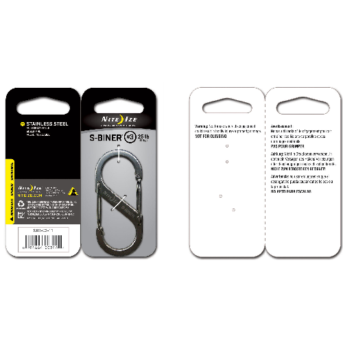 Nite-Ize Dual Carabiner Stainless Steel SB3-03-11 Stainless 2.67in. x 1.18in. x 0.26in.
