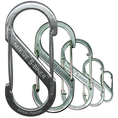 Nite-Ize Dual Carabiner Stainless Steel SB4-03-11 Stainless 3.52in. x 1.57in. x 0.31in.