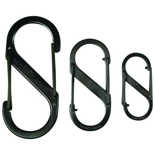 Nite-Ize Dual Carabiner Stainless Steel SB5-03-01 Black 4.38in. x 1.93in. x 0.33in.