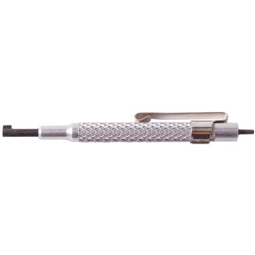 Peerless Handcuff Company Oversize Handcuff Key 4117 Nickel Pen Clip