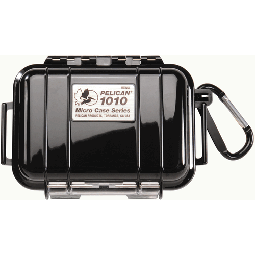 Pelican Products 1010 Micro Case 1010-025-100 Clear/Black Black Liner