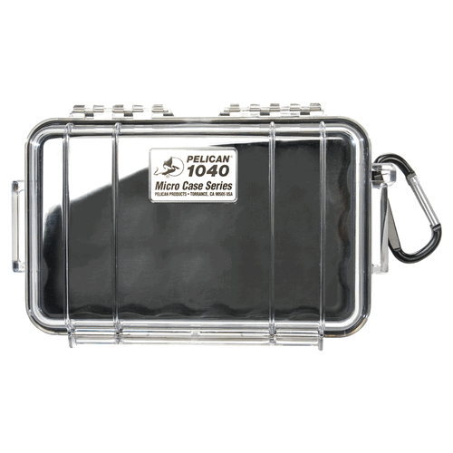 Pelican Products 1040 Micro Case 1040-027-100 Clear/Yellow