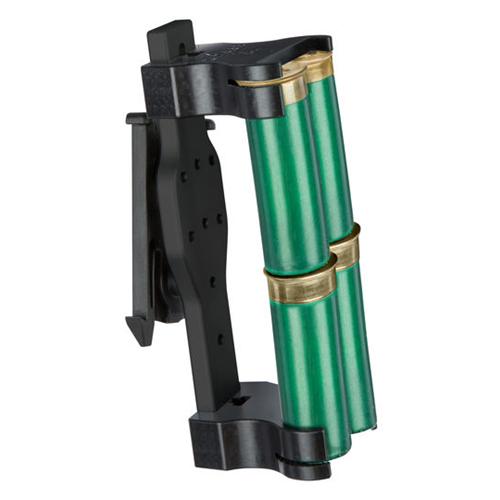 Safariland Model 086 Double - 4 Shotgun Shell Holder 086-4-2-745BL Black Belt Clip 4