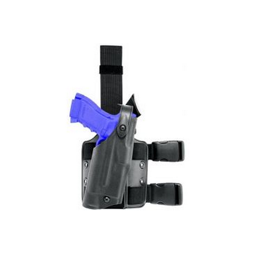 Safariland 6304 ALS/SLS Tactical Holster Drop-Rig Tactical Holster with ALS and SLS 6304-83-131 Black STX Tactical 83 Right