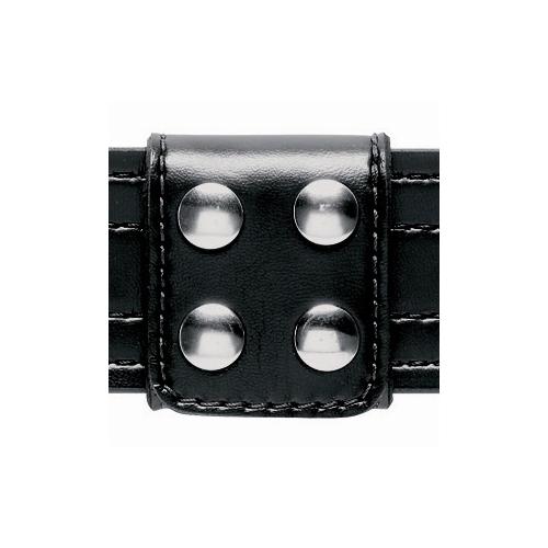 Safariland Model 654 Slotted Belt Keeper Extra-Wide (4-Snap) 654-4 Basket Weave Chrome