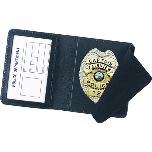 Strong Leather Company Side Open Badge Case - Duty 74800-0182 Blackinton B296 Black