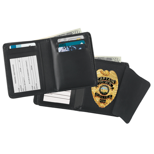 Strong Leather Company Deluxe Hidden Badge Wallet 79230-0192 Blackinton B957 Black