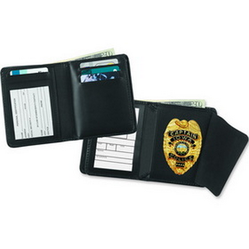 Strong Leather Company Hidden Badge Wallet - Dress 79520-0402 Blackinton B1006 Black