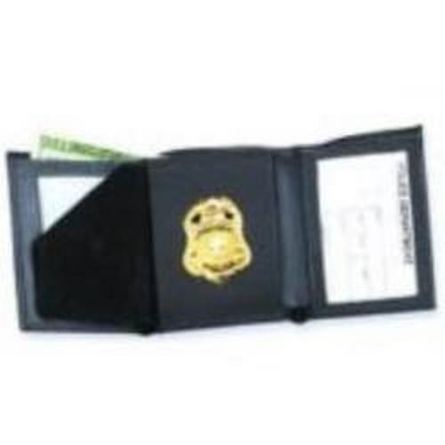 Strong Leather Company Hidden Badge Wallet - Dress 79520-0852 Blackinton B251 Black
