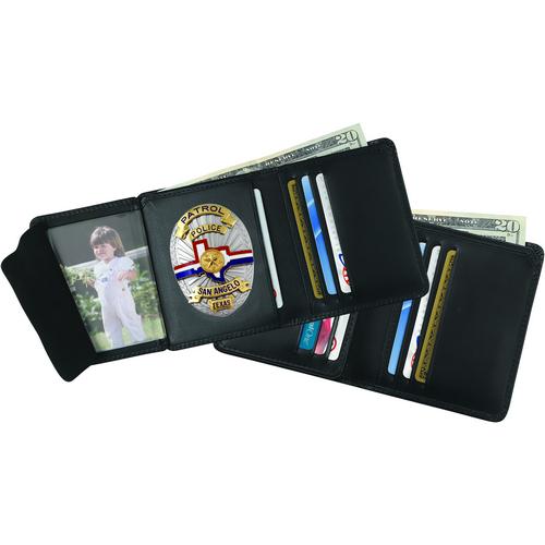 Strong Leather Company Hidden Badge Wallet - Dress 79520-2282 Blackinton B3023 Black