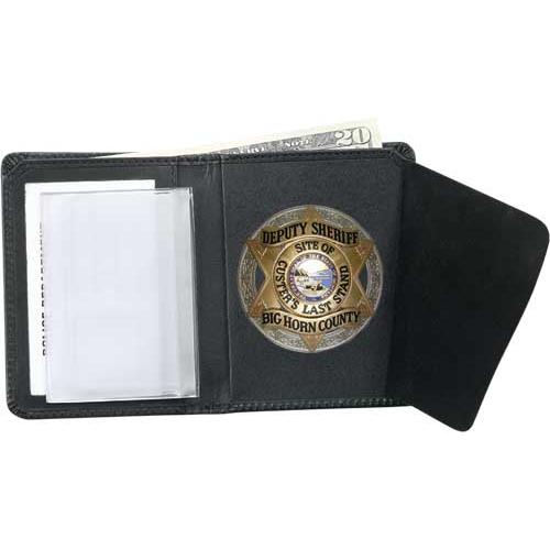 Strong Leather Company Badge Wallet - Dress 79610-2442 Blackinton B1258 Black