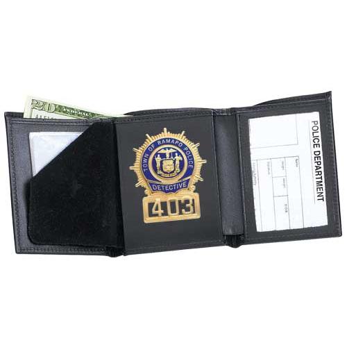 Strong Leather Company Tri-Fold Badge Wallet - Dress 79800-0852 Blackinton B251 Black
