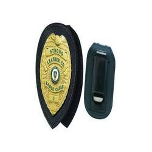 Strong Leather Company Recessed Badge Holders For Neck Or Belt 81137-0852 Blackinton B251 Black