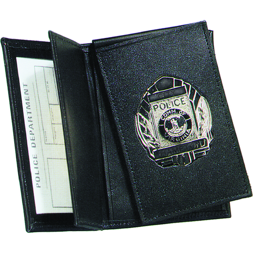 Strong Leather Company Side Open Double ID Flip-out Recessed Badge Case - Dress 87950-0932