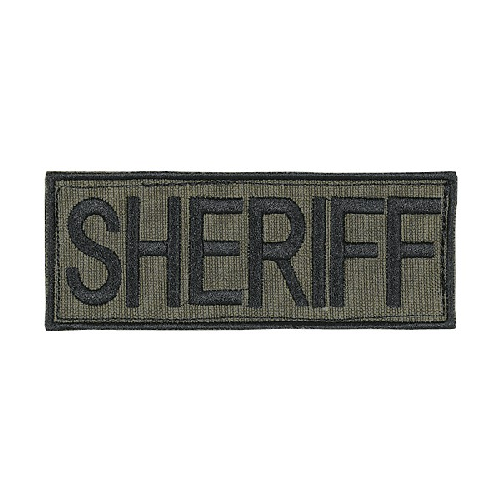 Voodoo Tactical Sheriff Patch 06-7728004348 OD Green Black 9in. x 4.13in.