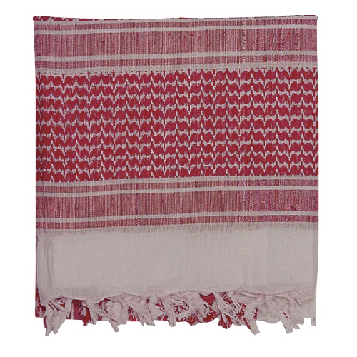 Voodoo Tactical Woven Coalition Desert Scarves 08-3065024160 White/Red