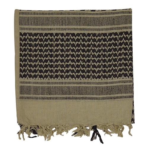 Voodoo Tactical Woven Coalition Desert Scarves 08-3065083000 Khaki/Black