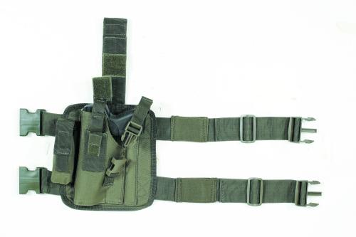 Voodoo Tactical Tactical Drop Leg Holster 20-0052004001 OD Green Right