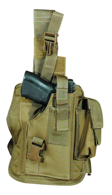 Voodoo Tactical Tactical Drop Leg Holster 20-0052007001 Coyote Right
