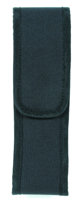 Voodoo Tactical Flashlight Pouch W/ Adjustable Cover & Elastic Sides 20-0134001000 Black Nylon Velcro Spartacus