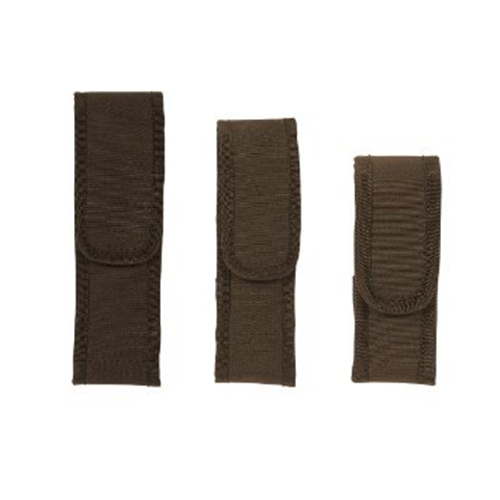 Voodoo Tactical Flashlight Pouch W/ Adjustable Cover & Elastic Sides 20-0134007000 Coyote Tan Nylon Velcro Spartacus