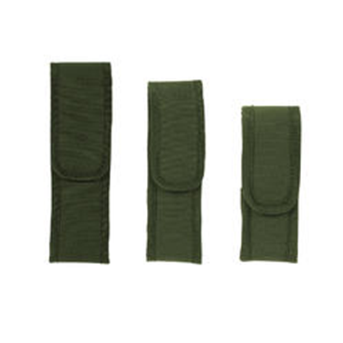 Voodoo Tactical Flashlight Pouch W/ Adjustable Cover & Elastic Sides 20-0135004000 OD Green Nylon Velcro