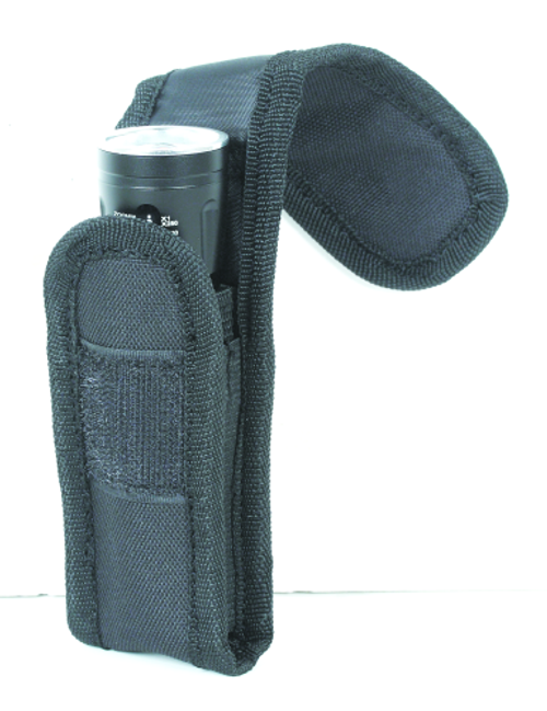 Voodoo Tactical Flashlight Pouch W/ Adjustable Cover & Elastic Sides 20-0136001000