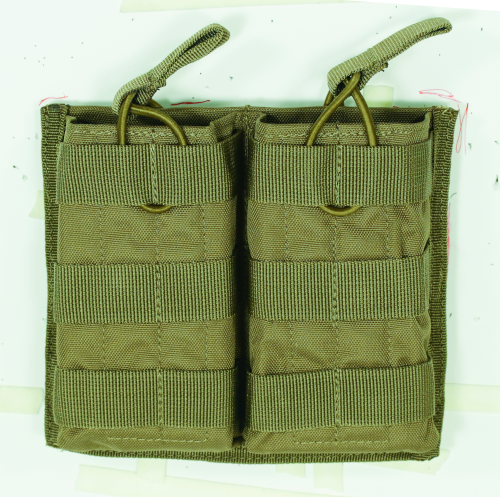 Voodoo Tactical M4/M16 Open Top Mag Pouch W/ Bungee System 20-8585007000 Coyote