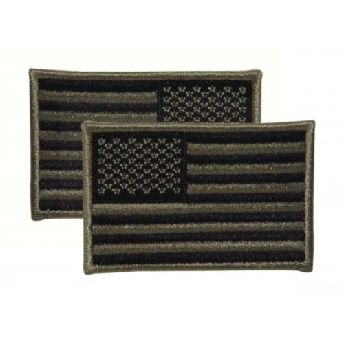 Voodoo Tactical Embroidered USA Military Flag Patches 20-9087076001 Foliage Reversed