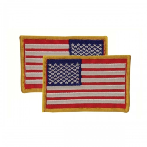 Voodoo Tactical Embroidered USA Military Flag Patches 20-9087099001 Red/White/Blue Reversed