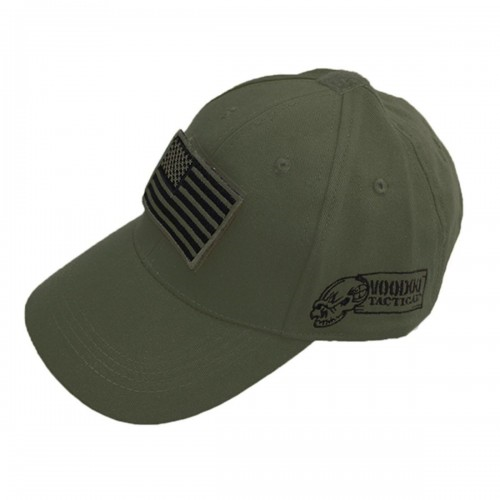 Voodoo Tactical Caps w/ Velcro Patch 20-9351004000 Olive Drab