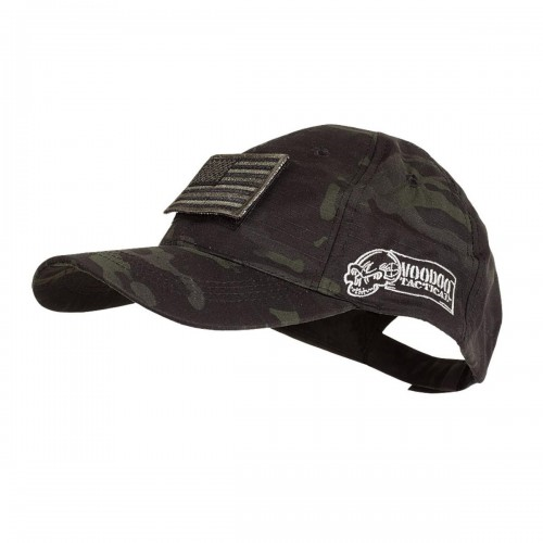 Voodoo Tactical Caps w/ Velcro Patch 20-9351072000 Black/MultiCam