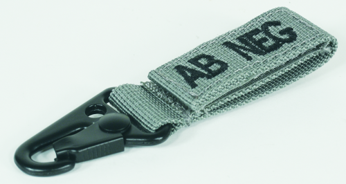 Voodoo Tactical Embroidered Blood Type Tags (AB-) 20-9729076000 Foliage