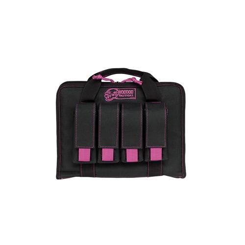 Voodoo Tactical Pistol Case W/ Mag Pouches 25-0017065000 Black/Purple