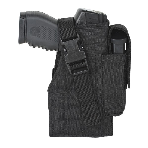 Voodoo Tactical Tactical Molle Holster w/ Attached Mag Pouch 25-0029001002 Black Left