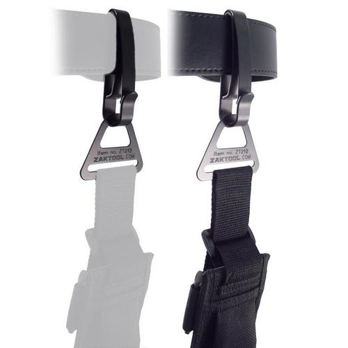 Zak Tool Tactical Belt Clip System ZAK-212-55 Black 2.25in.