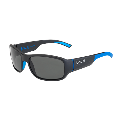 Bolle Heron 12378 Matte Black/Blue HD Polarized TNS