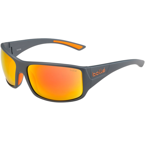 Bolle Tigersnake 12601 Matte Cool Gray HD Polarized Brown Fire