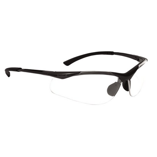 Bolle CONTOUR Safety Glasses 40044 Dark Gunmetal Clear