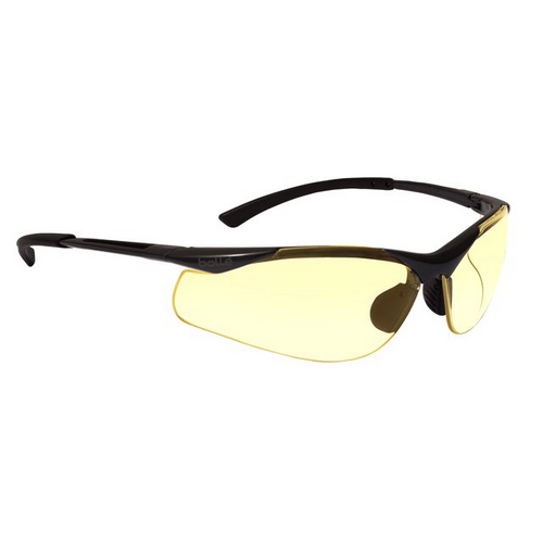 Bolle CONTOUR Safety Glasses 40046 Black/Gray Yellow